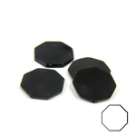 Gemstone Flat Back Flat Top Straight Side Stone - Octagon 12MM BLACK ONYX
