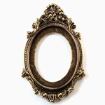 Metalized Plastic Engraved Setting - Oval 40x30MM ANTIQUE GOLD