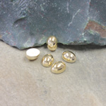 German Plastic Cabochon Vacuum Coated - Oval 08x6MM GOLD