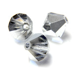 Preciosa Crystal Bead - Bicone 03MM COMET ARGENT LIGHT HALF