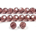Chinese Cut Crystal Bead 32 Facet - Round 06MM AMETHYST