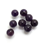 Gemstone 1-Hole Ball 08MM AMETHYST (B grade)