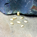 Plastic Flat Back Metalized Cabochon - Oval 06x4MM GOLD