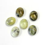 Gemstone Cabochon - Oval 10x8MM YELLOW TURQUOISE