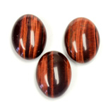 Gemstone Cabochon - Oval 20x15MM TIGEREYE RED