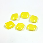 Glass Point Back Buff Top Stone Opaque Doublet - Cushion Octagon 08x7MM YELLOW MOONSTONE