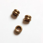 Brass Machine Made Bead - Fancy Tube 02.7MM RAW BRASS lead free