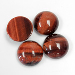 Gemstone Cabochon - Round 15MM TIGEREYE RED