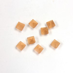 Fiber-Optic Cabochon - Pyramid Top 04x4MM CAT'S EYE COPPER