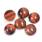 Gemstone Cabochon - Round 12MM TIGEREYE RED