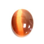 Fiber-Optic Cabochon - Oval 30x22MM CAT'S EYE COPPER