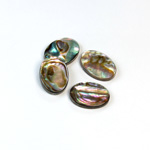 Shell Flat Back Flat Top Straight Side Stone - Oval 14x10MM ABALONE