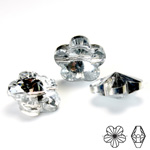 Chinese Cut Crystal Bead Side Drilled - Flower 18MM CRYSTAL FOILED
