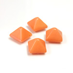 Gemstone Cabochon - Square Pyramid Top 08x8MM DOLOMITE DYED CORAL
