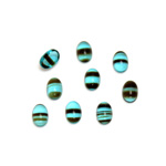 Glass Medium Dome Cabochon - Oval 06x4MM BLUE TORTOISE