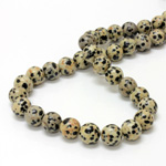 Gemstone Bead - Smooth Round 10MM DALMATION