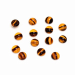 Glass Medium Dome Cabochon - Round 05MM TORTOISE