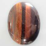 Gemstone Cabochon - Oval 40x30MM TIGEREYE RED