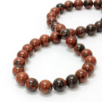Gemstone Bead - Smooth Round 12MM RED OBSIDIAN