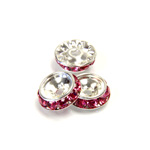 Czech Rhinestone Rondelle Shrag Rivoli Back Setting - Round 12MM outside w 08mm (ss38) Recess ROSE-SILVER