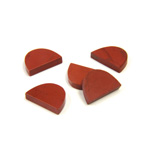 Gemstone Flat Back Flat Top Straight Side Stone - Half Oval 10x7MM RED JASPER