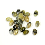 Gemstone Cabochon - Oval 06x4MM YELLOW TURQUOISE