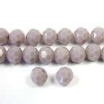 Chinese Cut Crystal Bead 32 Facet - Round 06MM OPAL LT PURPLE