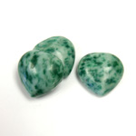 Gemstone Cabochon - Heart 18MM JADE ZING JIANG