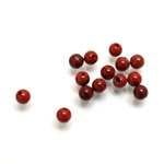 Gemstone 1-Hole Ball 04MM RED JASPER