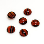Glass Medium Dome Cabochon - Round 09MM TORTOISE