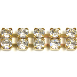 Preciosa Rhinestone Chain - 2 Row PP28 CRYSTAL-RAW
