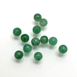 Gemstone 1-Hole Ball 05MM GREEN AVENTURINE