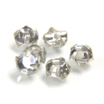 Crystal Stone in Metal Sew-On Setting - Rose Montee Extra SS20 CRYSTAL-SILVER