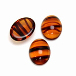Glass Medium Dome Cabochon - Oval 16x12MM TORTOISE