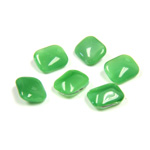 Glass Point Back Buff Top Stone Opaque Doublet - Cushion Octagon 08x7MM GREEN MOONSTONE