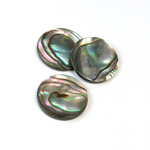 Shell Flat Back Flat Top Straight Side Stone - Round 18MM ABALONE