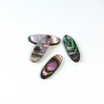 Shell Flat Back Flat Top Straight Side Stone - Oval 17x6MM ABALONE